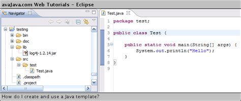 Using Templates In Java how to use java templates in eclipse version free