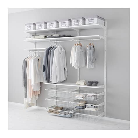 Bedroom Wall Shelves For Clothes Algot Wall Upright Shelves Rod Ikea