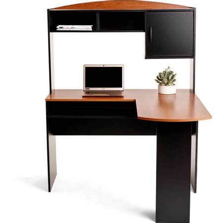 mainstays desk finishes mainstays l shaped desk with hutch finishes