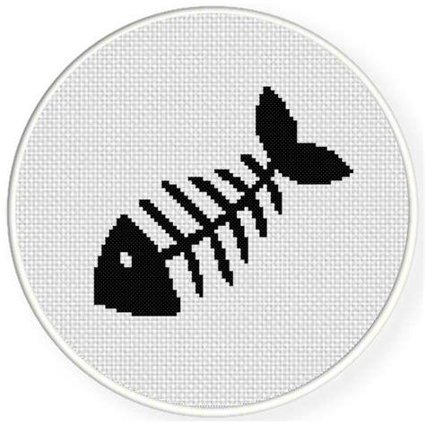 stitches illustration fishbone cross stitch pattern daily cross stitch