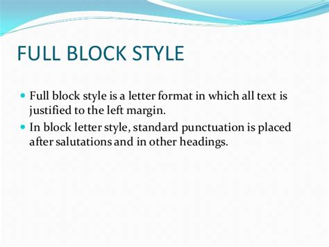 Business Block Letter Definition business letters and different styles