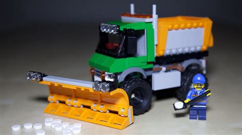 Lego City Snowplow Truck 60083 lego city 60083 snowplow truck lego speed build review