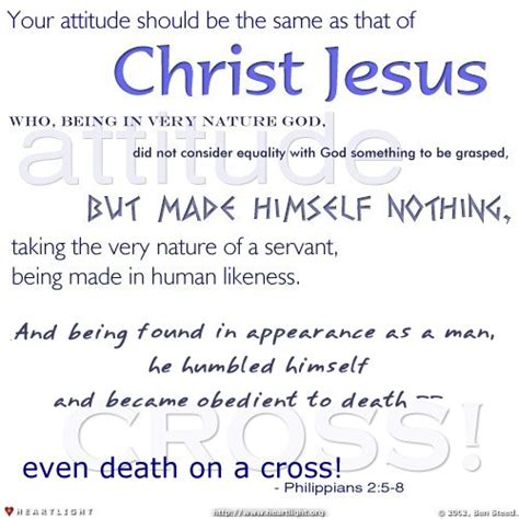 attitude a study in philippians books philippians 2 5 8 illustrated quot attitude quot heartlight