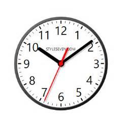 desktop clock plus 7