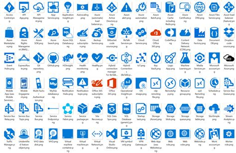 microsoft cloud and enterprise symbol icon set new release microsoft cloud and enterprise symbol set
