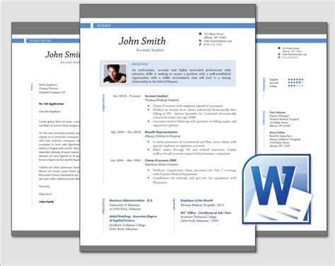 Resume Template Word Professional Design Clean Professional Resume Cv Template Word
