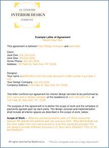 Sle Of Letter Of Agreement For Interior Design How To Write An Interior Design Letter Of Agreement