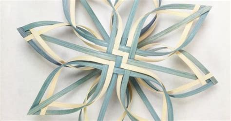 pattern for woven snowflake ornament lg twill woven star ornament snowflake tree topper by