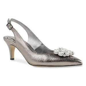 new s j renee makenzie taupe metallic nappa slingback dress shoes ebay