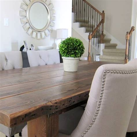 salvaged wood dining room tables hometalk our dining room table we made from reclaimed wood