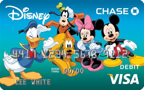 Visa Gift Card Chase - exclusive disney art featured on new visa debit card