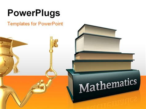 powerpoint academic templates some pile of mathematic education books powerpoint