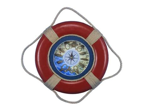 model boat life rings buy vintage red decorative lifering clock 15 inch