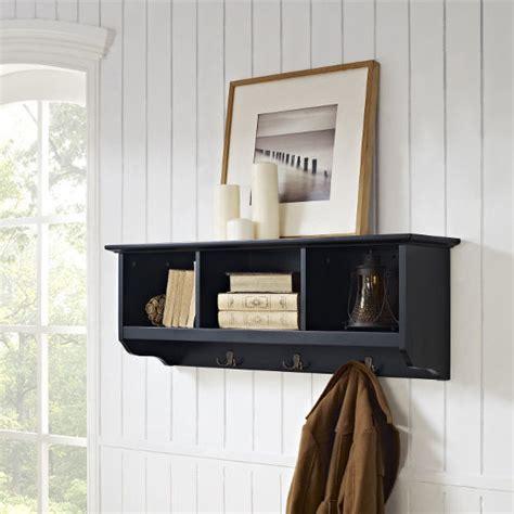 Entryway Shelf Hooks by Crosley Furniture Brennan Entryway Storage Shelf With