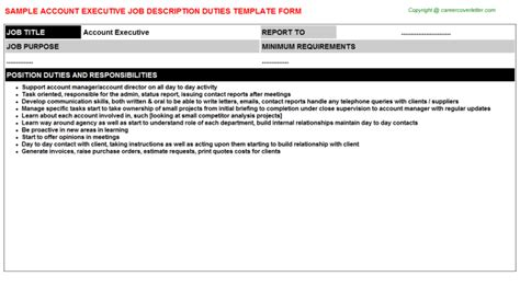 comcast account executive job descriptions