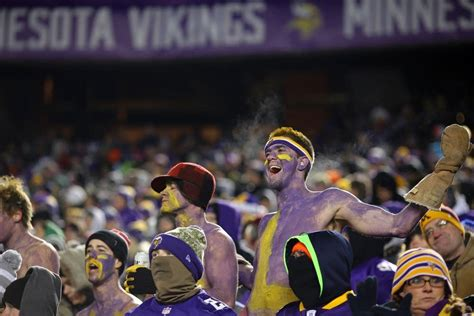 gifts for vikings fans vikings tell fans to keep their shirts on as frigid