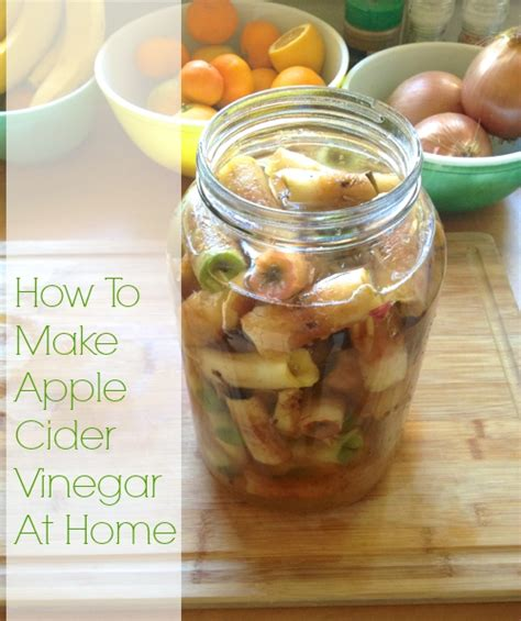 how to make apple cider vinegar at home from leftover