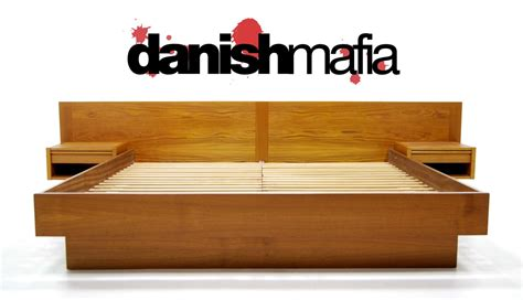mid century modern beds mid century danish modern teak king bed nightstands danish mafia