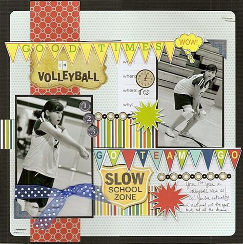 scrapbook layout ideas for volleyball 72 best volleyball layouts images on pinterest scrapbook
