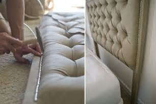 Diy Tufted Headboard M Dorsey Designs Tufted Headboard With Nailhead How To