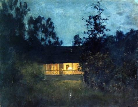 twilight painting at the summer house in twilight levitan painting