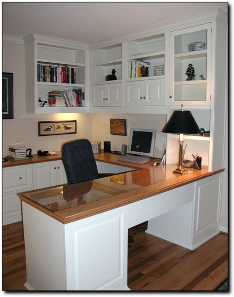 Home Office In Quot U Quot Shape With Desk Craft Room Pinterest Home Office U Shaped Desk