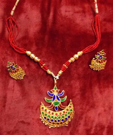 Handmade Indian Jewellery - ethnic handmade indian assamese jewellery junbiri senpota