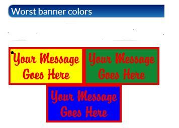 worst colors los angeles sign company how to design your sign banner