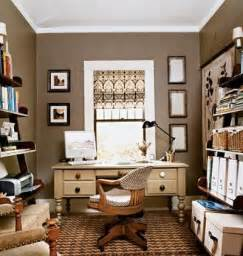 Home Office Colors Ideas Taupe Walls Traditional Den Library Office