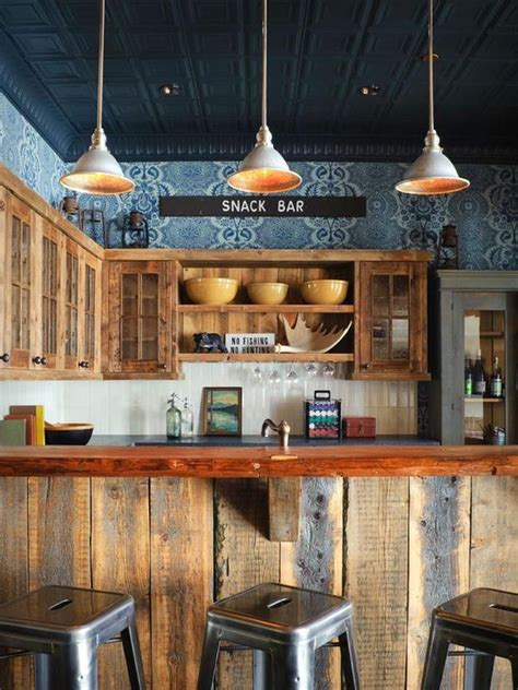 kitchen snack bar ideas rustic kitchen snack bar area pic 17 eco and diy