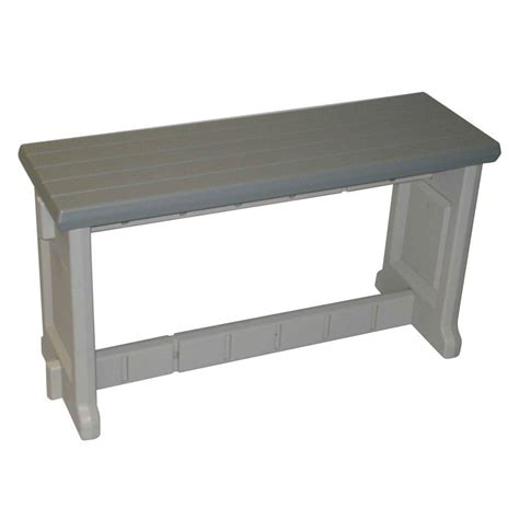 safavieh khara ash gray patio bench pat6705a the home depot