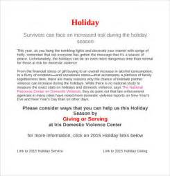 sample holiday memo 7 documents in pdf