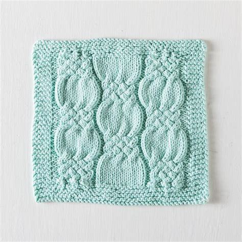 washcloth knitting patterns free knotted cables washcloth free knitting pattern knitting bee