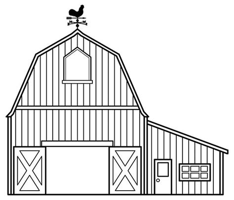 horse barn coloring page house with big barn in houses coloring page house with big