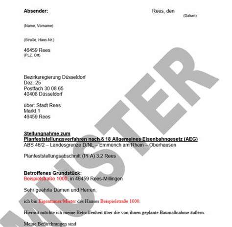 Widerspruch Musterbrief Deutsche Bahn Db Millingen Online Das Portal F 252 R Rees Millingen Und Umgebung