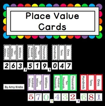 place value cards template places teaching and magnets on
