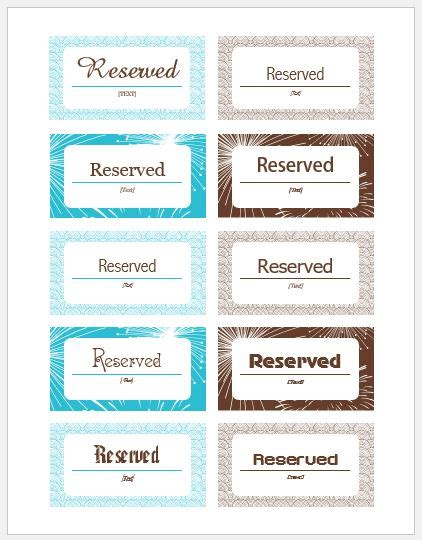 reserved sign template word reserved sign templates for ms word word excel templates