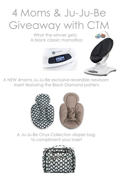 4moms Giveaway - giveaway 4moms mamaroo ju ju be infant insert diaper bag