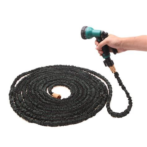Flex Garden Hose by Stretched Working 100 Ft 30m Expandable Black