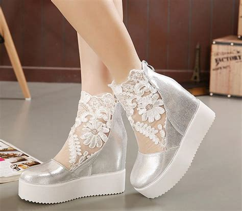 Silver Wedge Wedding Shoes by Wedding Shoes Wedges Silver Www Imgkid The Image