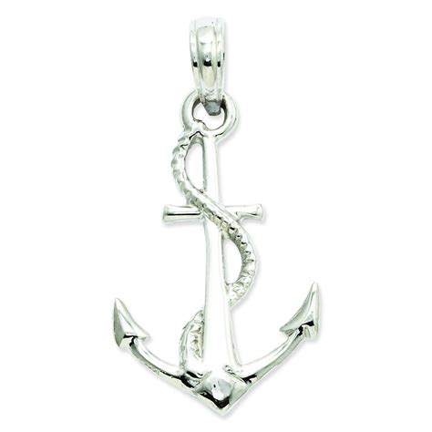 white gold anchor necklace white gold