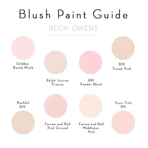 blush pink paint guide becki owens room colors put together and pantone color