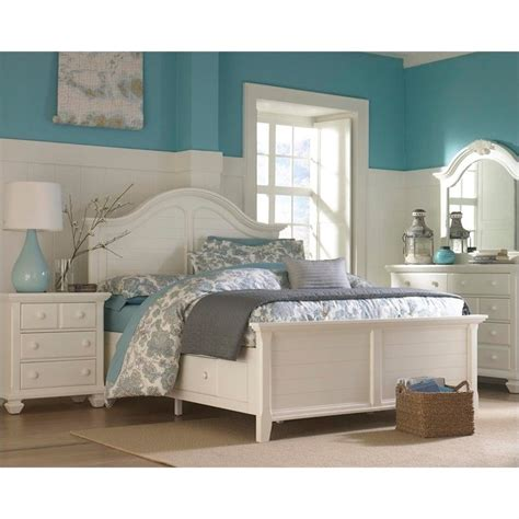 white panel bedroom set broyhill mirren harbor panel storage bed 4 piece bedroom