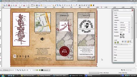 scribus brochure templates design professional brochures using gimp inkscape and