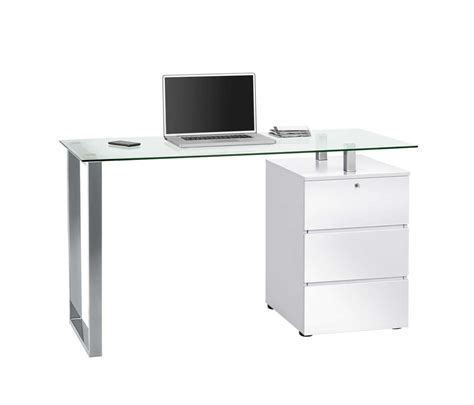 schublade tischplatte schreib und computertisch in hochglanz wei 223 mit metallfu 223