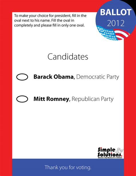 blank election templates pictures to pin on pinterest