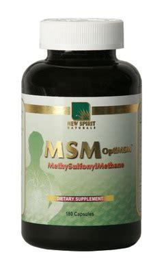Msm Detox Reactions by New Spirit Naturals Msm Complex