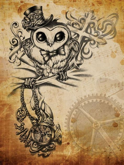 owl tattoos pinterest 44 best steunk owl images on owl