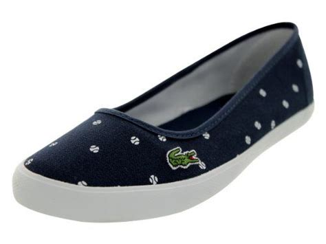 Lacoste Marthe Frs Spw Cnv Flats Womens lacoste s marthe tbl spw cnv dk blue wht casual shoe 6 us lacoste http www