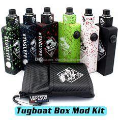tugboat v2 unregulated box mod best cheap e cig starter kit tugboat box mod kit tuglyfe